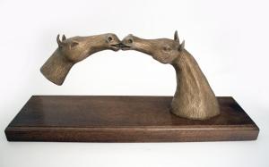 Horses Kissing (reproduction printing image)